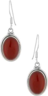 Gemshop STUNNING BROWN ONYX STERLING 92.5 Silver Dangle Earring
