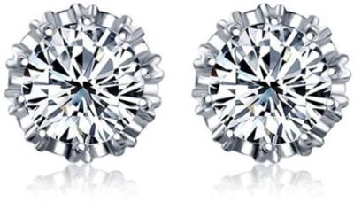 Panriya Fashion Sparkle Sterling Silver Stud Earring