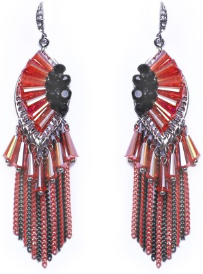 Dream Jewels Orange Tarka Zinc Dangle Earring
