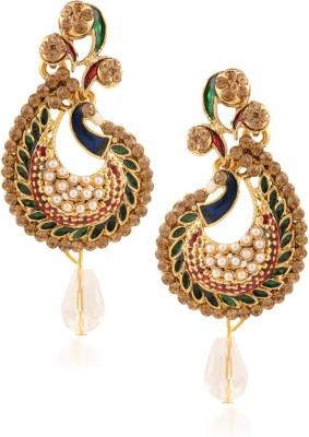 Fashionaya Diamond Peacock Cubic Zirconia Alloy Drop Earring