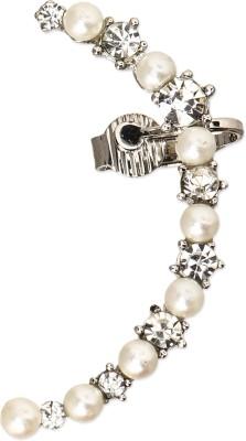 ZeroKaata Pearl and Diamond Earcuffs Alloy Dangle Earring
