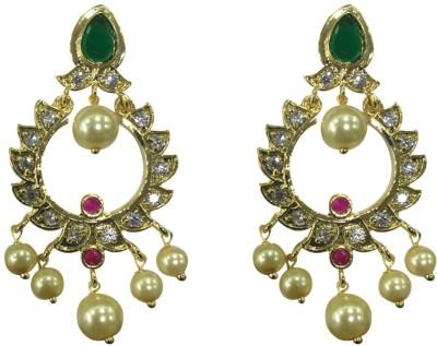 Sri Kapi Pearls FE127 Cubic Zirconia Alloy Chandbali Earring