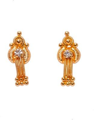 PFJ PFJ3051-EARRING Cubic Zirconia Brass, Copper Drop Earring