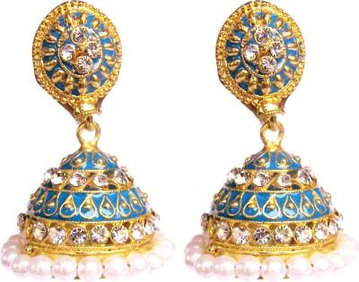 Triumphin Ethnic Crystal Copper Jhumki Earring