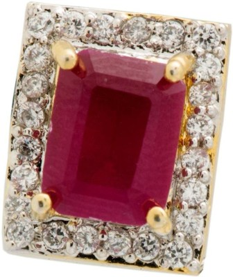 YugshaJewels Elegant YJE-1382 Ruby, Cubic Zirconia Brass Stud Earring