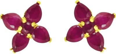 JPearls Camella Flower Cubic Zirconia Alloy Stud Earring