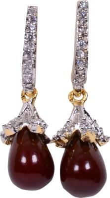 Navya Delighted Pearl Ear Rings Cubic Zirconia Alloy Drop Earring