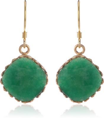Thingalicious Emerald Glow Alloy Dangle Earring