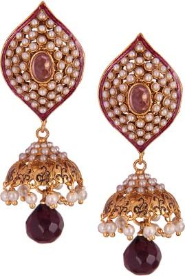 Varaagk Brass Jhumki Earring