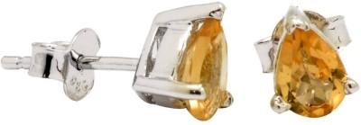 YugshaJewels Elegant YJE-1097 Citrine Sterling Silver Stud Earring