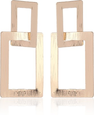 Thingalicious Linked Rectangle Alloy Drop Earring