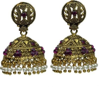Womanwa Traditional Style Metal Jhumki Earring
