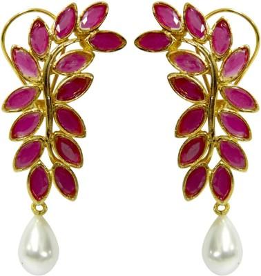 Peora Leaf Brass Drop Earring