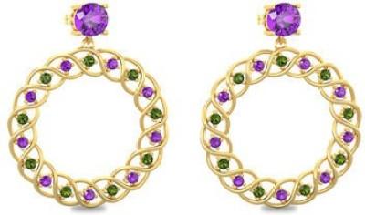 VelvetCase London Eye Drops Earrings Amethyst Gold Drop Earring