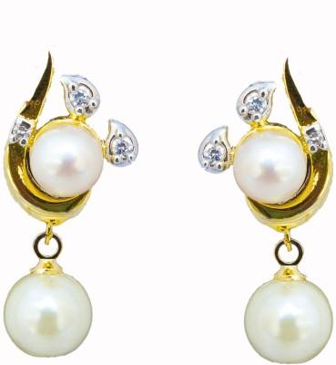 Classique Designer Jewellery Pearl Copper Drop Earring