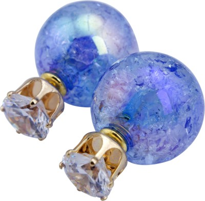 Bigpout Blueice Alloy, Plastic Stud Earring