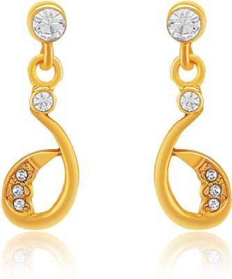 Oviya Slender Beauty Crystal Brass, Alloy Drop Earring