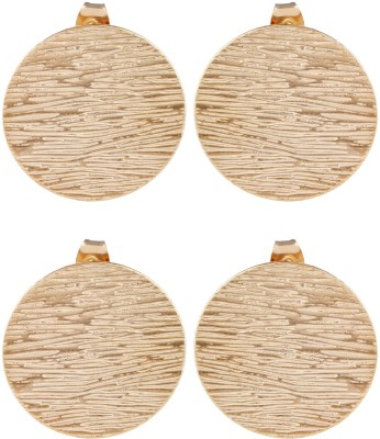 Dubbai Gold Textured Pattern Metal Stud Earring