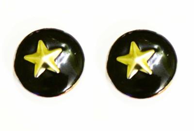 Ornamas Copper, Plastic, Enamel Stud Earring