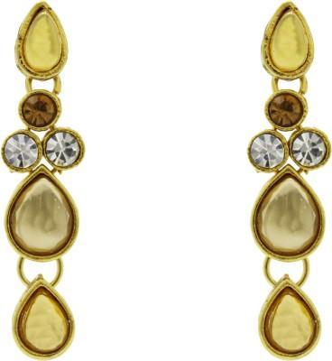 Ishaani Love Forever Cubic Zirconia Brass Drop Earring