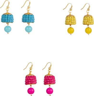 Makezak Thakkar Hand Made Pachi 12 Brass Earring Set at flipkart