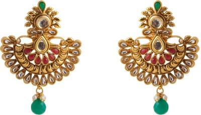 Aaina Home Decor Trendy Cubic Zirconia Copper Chandbali Earring