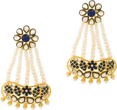 REEVA FASHION JEWELLERY LONG FLORAL Zinc Drop Earring