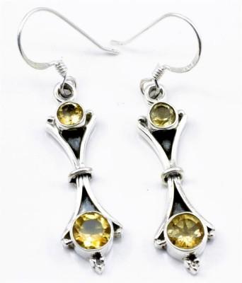 YugshaJewels Citrine Silver Dangle Earring
