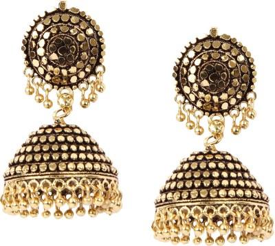 Giftmania Antique Sparkle Brass Jhumki Earring