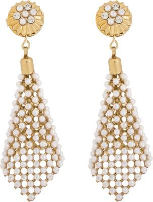 Pankh Beads Studded Brass Jhumki Earring