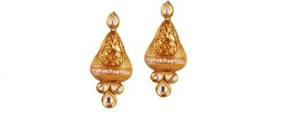 Ratnaraj India Colour American Diamond Plated Copper Chandelier Earring