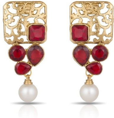 Luxor Attractive Royal Red Alloy Drop Earring