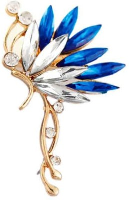 Jewel Touch Women's Shinning Blue Butterfly Alloy Cuff Earring