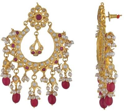 Nisa Pearls Fashion Era Onyx Alloy Dangle Earring