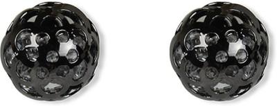 Aimez Dark Mesh Ball Metal Stud Earring