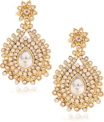 Fashionaya Diamond Moon Cubic Zirconia Alloy Drop Earring