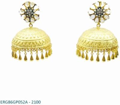 E-Designs ERG86GP052A - 2100 Cubic Zirconia Alloy Jhumki Earring