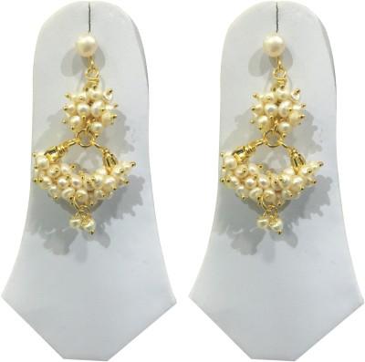Sri Kapi Pearls FE144 Pearl Alloy Dangle Earring