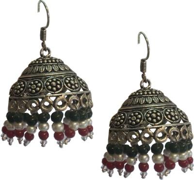 Excellent Gems Multi colour Metal Jhumki Earring