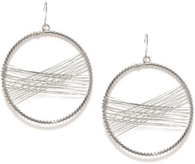 ToniQ Cross Stitch Round Metal Dangle Earring
