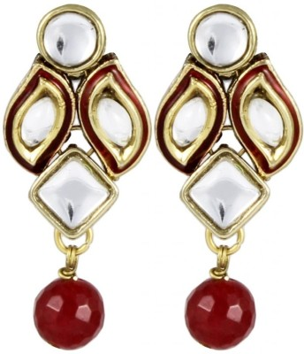 Karatcart Ethnic Kundan Alloy Drop Earring