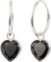 Abhooshan Tender Heart Cubic Zirconia Sterling Silver Hoop Earring