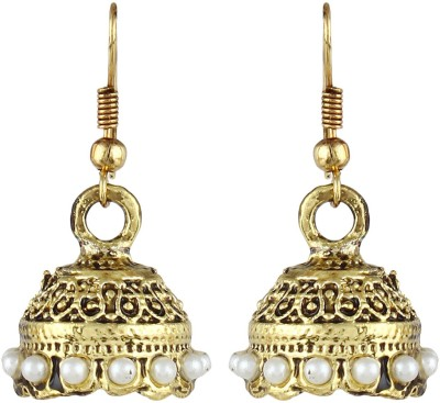 Crazytowear Oxidized Antique Alloy Jhumki Earring