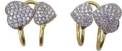 Aakhya EAR17 Diamond Rose Gold Hoop Earring
