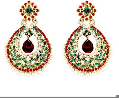 K P Sterling Ethnic Earrings Alloy Chandbali Earring