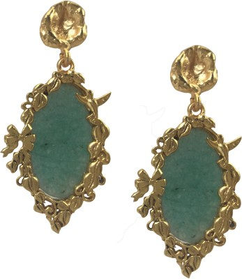 Studiob40 StudioB40 Golden Designer Hanging Earrings Brass Drop Earring