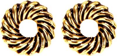 Bezel MT - 163 - Black Alloy Stud Earring