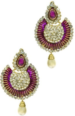Shine My Life Blushing Alloy Chandbali Earring