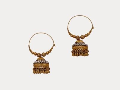 Oars Gold Baali Acrylic, Metal Hoop Earring