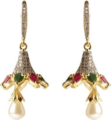 Rays SJM21 Zircon, Pearl Copper Drop Earring